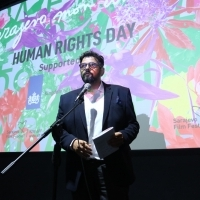 Moderator Robert Zuber, Human Rights Day Programme Opening, Meeting Point Cinema, 25th Sarajevo Film Festival, 2019 (C) Obala Art Centar
