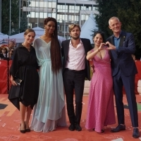 Jury of the Competition Programme - Feature Film: Jovana Stojiljković, Funa Maduka, Ruben Östlund (Jury President), Teona Strugar Mitevska and Bero Beyer, Red Carpet, 25th Sarajevo Film Festival, 2019 (C) Obala Art Centar