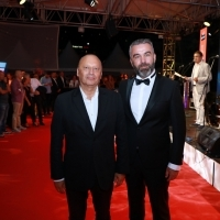 Director of Sarajevo Film Festival Mirsad Purivatra and a.i. general menager of BH Telecom Sedin Kahriman, BH Telecom Coctail Reception, Festival Square, 25th Sarajevo Film Festival, 2019 (C) Obala Art Centar