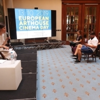 CineLink Talks: Avant Premiere Lab: European Arthouse Cinema Day, Atrium of Hotel Europe, 25th Sarajevo Film Festival, 2019 (C) Obala Art Centar