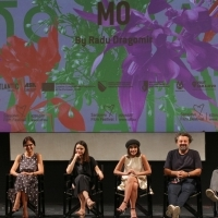 Actor Razvan Vasilescu, producer Ruxandra Flonta, actresses Madalina Craiu and Dana Rogoz, director Radu Dragomir and moderator Aleksandar Hemon, Competition Programme Press Conference: Mo, National Theatre, 25th Sarajevo Film Festival, 2019 (C) Obala Art Centar
