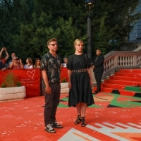 Crew of You Have the Night: director Ivan Salatić and producer Jelena Angelovski, Red Carpet, 25th Sarajevo Film Festival, 2019 (C) Obala Art Centar