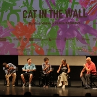 Cinematographer Dimitar Kostov, actor Angel Genov, directors Mina Mileva and Vesela Kazakova and moderator Aleksandar Hemon, Competition Programme Press Conference: Cat in the Wall, National Theatre, 25th Sarajevo Film Festival, 2019 (C) Obala Art Centar