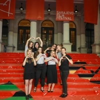 Official hostesses of 25th Sarajevo Film Festival, Red Carpet, 25th Sarajevo Film Festival, 2019 (C) Obala Art Centar