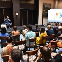 CineLink Drama: Midpoint Masterclass with Hagai Levi, Atrium of Hotel Europe, 25th Sarajevo Film Festival, 2019 (C) Obala Art Centar