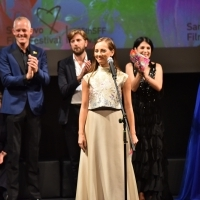 Jury member Jovana Stojiljković announcing the winner of Heart of Sarajevo for Best Actor, National Theatre, 25th Sarajevo Film Festival, 2019 (C) Obala Art Centar