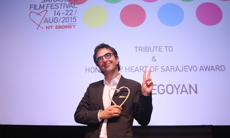 Honorary Heart of Sarajevo for Atom Egoyan