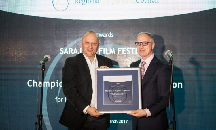 Champion of Regional Cooperation Award Presented to Sarajevo Film Festival