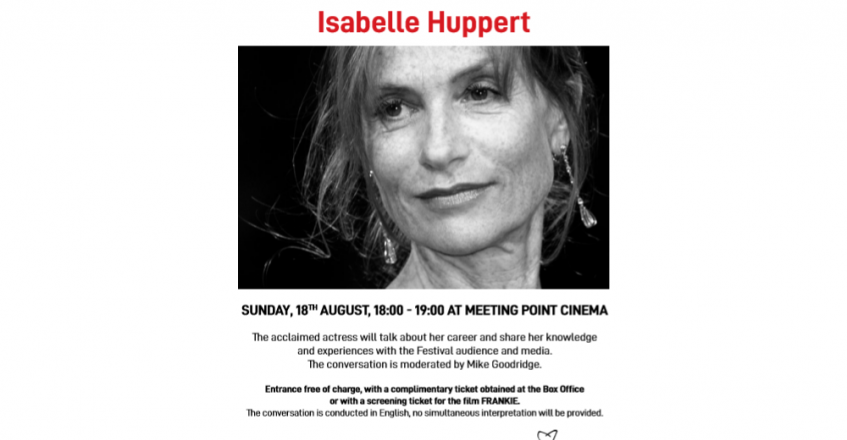 Masterclass with Isabelle Huppert