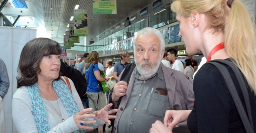 Mike Leigh Arrives in Sarajevo