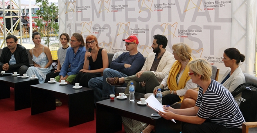 "Jasmila Žbanić and the Cast of LOVE ISLAND Guests of the ""Coffee with…"" Programme"